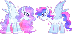Size: 7788x3708 | Tagged: safe, artist:kurosawakuro, oc, oc only, pegasus, pony, absurd resolution, base used, female, heart eyes, mare, offspring, offspring's offspring, parent:oc:daydreamer, parent:oc:shooting star, parents:oc x oc, simple background, transparent background, wingding eyes