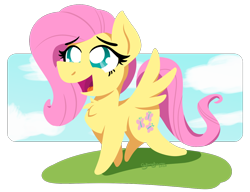 Size: 1300x1000   Tagged: safe, artist:glimglam, fluttershy, pegasus, pony, chest fluff, female, lineless, mare, open mouth, simple background, solo, spread wings, transparent background, wings