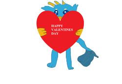 Size: 1156x796 | Tagged: safe, artist:1126jewel5, gallus, griffon, semi-anthro, bipedal, cute, heart, holiday, looking at you, simple background, solo, valentine's day, white background