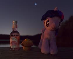 Size: 4898x3971 | Tagged: safe, photographer:lemondrop, twilight sparkle, alicorn, pony, absurd resolution, female, food, holiday, irl, muffin, photo, solo, twilight sparkle (alicorn), valentine's day, waifu dinner