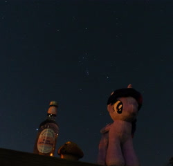 Size: 4162x4001 | Tagged: safe, photographer:lemondrop, twilight sparkle, alicorn, pony, absurd resolution, female, food, holiday, irl, muffin, photo, solo, stars, twilight sparkle (alicorn), valentine's day, waifu dinner