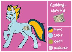 Size: 2000x1435 | Tagged: safe, artist:fishtoonz, oc, oc:cauldroy waters, male, reference sheet, solo, stallion
