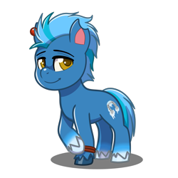 Size: 4093x4093   Tagged: safe, artist:jcosneverexisted, oc, oc only, oc:ice walker, my little pony: pony life, looking at you, male, simple background, solo, transparent background, unshorn fetlocks