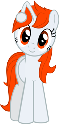 Size: 1427x3001 | Tagged: safe, artist:pinkiepi314, oc, oc only, oc:karma, pony, unicorn, female, happy, high res, mare, ponified, reddit, simple background, solo, transparent background, upvote, vector