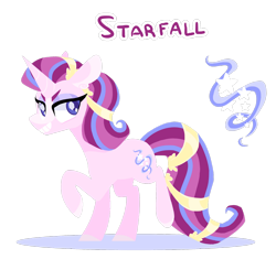 Size: 1600x1502 | Tagged: safe, artist:torusthescribe, oc, oc:starfall, unicorn, female, mare, offspring, parent:starlight glimmer, parent:sunburst, parents:starburst, simple background, solo, transparent background