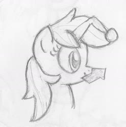 Size: 1995x2019 | Tagged: safe, artist:lovablerobot, oc, oc only, oc:karma, pony, unicorn, black and white, grayscale, monochrome, ponified, reddit, simple background, solo, traditional art, upvote, white background