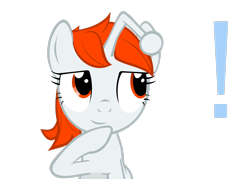 Size: 2898x2070 | Tagged: safe, artist:fabulouspony, oc, oc only, oc:karma, pony, unicorn, exclamation point, female, mare, ponified, reddit, simple background, transparent background, vector