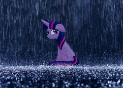 Size: 1024x728 | Tagged: safe, artist:slb94, twilight sparkle, alicorn, floppy ears, looking at you, looking back, looking back at you, rain, sad, solo, twilight sparkle (alicorn), vector