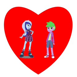 Size: 800x800 | Tagged: safe, minuette, spike, equestria girls, female, heart, human spike, male, shipping, shipping heart, simple background, spigate, straight, transparent background