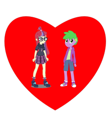 Size: 722x800 | Tagged: safe, moondancer, spike, human, equestria girls, crack shipping, female, heart, human spike, humanized, male, shipping, shipping heart, simple background, spikedancer, straight, transparent background