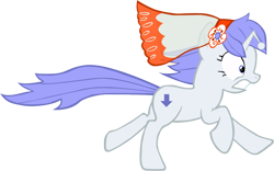 Size: 934x581 | Tagged: safe, artist:perinigricon, oc, oc only, oc:discentia, pony, unicorn, cutie mark, downvote, female, mare, ponified, reddit, running, simple background, solo, transparent background, vector, wedding veil