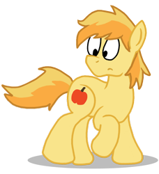 Size: 708x777 | Tagged: safe, artist:sketchymouse, braeburn, earth pony, pony, male, raised hoof, simple background, solo, stallion, transparent background