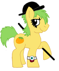 Size: 3011x3611 | Tagged: safe, artist:sketchymouse, mosely orange, uncle orange, earth pony, pony, alternate costumes, hat, male, raised hoof, simple background, solo, stallion, watch, white background