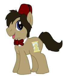 Size: 3048x3584 | Tagged: safe, artist:sketchymouse, doctor whooves, time turner, earth pony, pony, bowtie, fez, hat, male, simple background, solo, stallion, transparent background