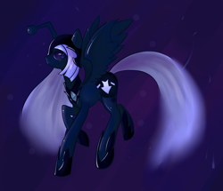 Size: 1732x1492 | Tagged: safe, artist:rayne-is-butts, oc, oc:discentia, alicorn, pony, cutie mark, dark background, downvote, female, mare, nightmarified, ponified, reddit, solo