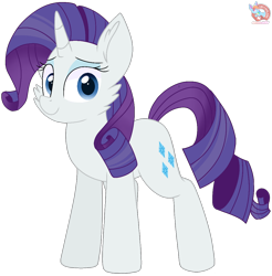 Size: 1114x1132 | Tagged: safe, artist:rainbow eevee, rarity, pony, unicorn, beautiful, blue eyes, blue eyeshadow, cheek fluff, cute, cutie mark, eyeshadow, female, grin, looking at you, makeup, mare, raribetes, simple background, smiling, smiling at you, solo, transparent background, vector