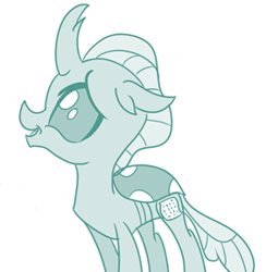 Size: 282x289 | Tagged: safe, artist:sintakhra, ocellus, changeling, tumblr:studentsix, cute, diaocelles, post-it, solo