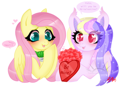 Size: 5000x3689 | Tagged: safe, artist:betavirus, artist:nekomellow, fluttershy, oc, oc:dreamcatcher, oc:futashy, oc:futashypone, bat pony, pony, collar, futa, futa fluttershy, heart eyes, hearts and hooves day, holiday, simple background, transparent background, valentine, valentine's day, wingding eyes