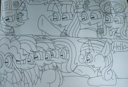 Size: 2629x1783   Tagged: safe, artist:徐詩珮, applejack, fizzlepop berrytwist, fluttershy, glitter drops, pinkie pie, rainbow dash, rarity, spring rain, tempest shadow, twilight sparkle, alicorn, earth pony, pegasus, pony, unicorn, series:sprglitemplight diary, series:sprglitemplight life jacket days, series:springshadowdrops diary, series:springshadowdrops life jacket days, alternate universe, bisexual, broken horn, clothes, cute, dialogue, equestria girls outfit, female, freckles, glitterbetes, glitterlight, glittershadow, horn, lesbian, lifeguard, lifeguard spring rain, lifejacket, mane six, mare, paw patrol, polyamory, shipping, speech bubble, sprglitemplight, springbetes, springdrops, springlight, springshadow, springshadowdrops, swimsuit, tempestbetes, tempestlight, twilight sparkle (alicorn)