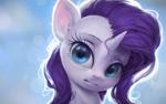 Size: 1440x900 | Tagged: safe, artist:assasinmonkey, rarity, pony, unicorn, bust, cute, digital art, female, mare, portrait, raribetes, solo