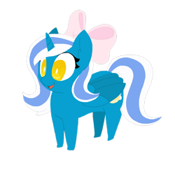 Size: 1280x1280 | Tagged: safe, artist:muccaronee, oc, oc only, oc:fleurbelle, alicorn, alicorn oc, bow, chibi, cute, female, hair bow, mare, simple background, solo, transparent background, yellow eyes
