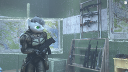 Size: 1920x1080 | Tagged: safe, artist:tfc0234, oc, oc:tfc0234, anthro, 3d, ak-74, anthro oc, crossover, gauss rifle, male, s.t.a.l.k.e.r., sig sg 550, source filmmaker, weapon
