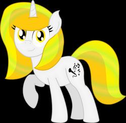 Size: 2287x2243 | Tagged: safe, artist:soulakai41, oc, oc:lemon cake, pony, unicorn, female, mare, simple background, solo, transparent background