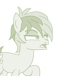 Size: 344x428 | Tagged: safe, artist:sintakhra, sandbar, earth pony, tumblr:studentsix, male, sandbar is not amused, teenager, unamused
