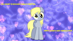 Size: 852x480 | Tagged: safe, artist:mlpfan3991, derpy hooves, hearts and hooves day, wallpaper