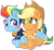 Size: 2010x1854 | Tagged: safe, artist:knadire, applejack, rainbow dash, earth pony, pegasus, pony, the last problem, spoiler:s09, spoiler:s09e26, 40 lashes, alternate hairstyle, alternate style, appledash, applejack's hat, blushing, contest entry, couple, cowboy hat, crossed hooves, cute, female, granny smith's scarf, granny smith's shawl, hat, holding hooves, holiday, hug, lesbian, mane bun, mare, older, older applejack, older rainbow dash, pair, series finale, shawl, ship, shipping, simple background, smiling, tallulah, transparent background, valentine's day, wing hold, winghug