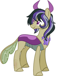 Size: 800x1018 | Tagged: safe, artist:space-higanbana, oc, oc:spheranium, changepony, hybrid, interspecies offspring, male, offspring, parent:thorax, parent:twilight sparkle, parents:twirax, simple background, solo, transparent background