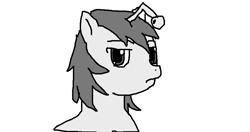 Size: 950x500 | Tagged: safe, artist:perler-pony, oc, oc only, oc:apathia, pony, unicorn, bust, deadpan, female, mare, ponified, reddit