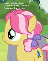Size: 567x720 | Tagged: safe, edit, edited screencap, screencap, kettle corn, marks and recreation, bow, cropped, cute, haiku, implied derpy, implied dinky, kettlebetes, mane bow, redone