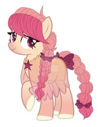 Size: 1280x1615 | Tagged: safe, artist:magicdarkart, oc, earth pony, clothes, deviantart watermark, female, mare, obtrusive watermark, see-through, simple background, solo, transparent background, watermark