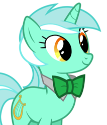 Size: 2655x3121 | Tagged: safe, artist:90sigma, artist:disneymarvel96, edit, vector edit, lyra heartstrings, unicorn, bowtie, bowties are cool, bust, portrait, solo, vector