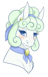 Size: 604x960 | Tagged: safe, artist:caff, oc, female, head shot, mare, pastel, smiling