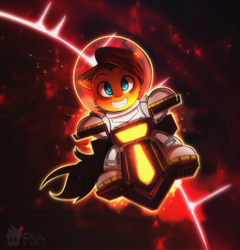 Size: 2500x2600   Tagged: safe, artist:freak-side, oc, pegasus, pony, grin, mars, planet, science fiction, smiling, solo, space, space helmet