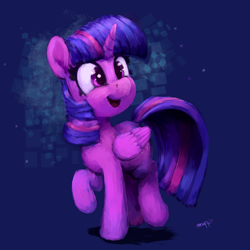 Size: 2699x2700 | Tagged: safe, artist:aemantaslim, twilight sparkle, alicorn, pony, cute, female, high res, mare, open mouth, purple background, simple background, solo, twiabetes, twilight sparkle (alicorn)