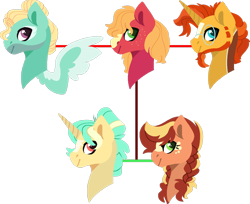 Size: 1280x1046 | Tagged: safe, artist:klawiee, big macintosh, sunburst, zephyr breeze, pony, family tree, gay, macburst, magical gay spawn, male, multiple parents, offspring, parent:big macintosh, parent:sunburst, parent:zephyr breeze, shipping, simple background, transparent background, zephyrburst, zephyrmac, zephyrmacburst