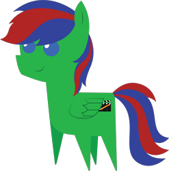 Size: 5706x5764 | Tagged: safe, artist:cosmiceclipsed, derpibooru exclusive, oc, oc only, oc:gojipie, pony, male, pointy ponies, simple background, solo, stallion, transparent background, wings