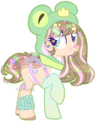 Size: 2214x2800 | Tagged: safe, artist:kurosawakuro, oc, earth pony, pony, animal hood, clothes, female, mare, simple background, socks, solo, transparent background