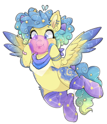 Size: 1920x2219 | Tagged: safe, artist:silent-shadow-wolf, oc, oc:constellation, pegasus, pony, bubblegum, clothes, female, food, gum, mare, simple background, socks, solo, transparent background