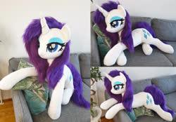 Size: 5808x4032 | Tagged: safe, artist:epicrainbowcrafts, rarity, pony, irl, life size, photo, plushie, solo