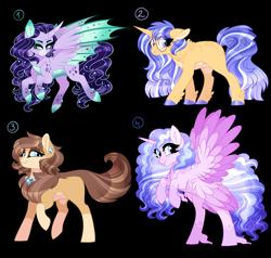 Size: 4000x3800   Tagged: safe, artist:gigason, oc, oc only, alicorn, dracony, dragon, hybrid, pony, seraph, seraphicorn, unicorn, female, mare, multiple wings, simple background, transparent background
