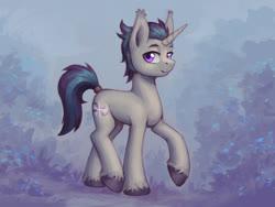 Size: 1200x900 | Tagged: safe, artist:asimos, oc, oc only, oc:verlo streams, bat pony, bat pony unicorn, hybrid, unicorn, solo
