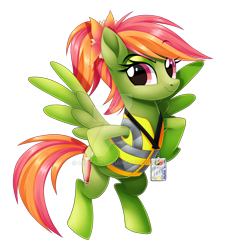 Size: 1024x1137 | Tagged: safe, artist:centchi, oc, oc:tropical smoothie, pegasus, pony, clothes, deviantart watermark, female, jacket, mare, obtrusive watermark, simple background, solo, transparent background, watermark