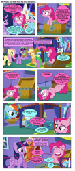 Size: 868x1977 | Tagged: safe, artist:dziadek1990, edit, edited screencap, screencap, applejack, fluttershy, pinkie pie, rainbow dash, rarity, twilight sparkle, comic:ponies and d&d, the one where pinkie pie knows, comic, conversation, dialogue, dungeons and dragons, emote story:ponies and d&d, pen and paper rpg, rpg, screencap comic, slice of life, text