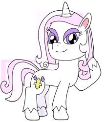 Size: 1682x1973 | Tagged: safe, artist:supahdonarudo, fleur-de-lis, unicorn, my little pony: pony life, chibi, cute, fleurabetes, simple background, style emulation, transparent background, unshorn fetlocks