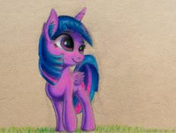 Size: 1333x1000   Tagged: safe, artist:vaser888, twilight sparkle, alicorn, traditional art, twilight sparkle (alicorn), walking