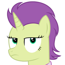 Size: 1000x1000 | Tagged: safe, artist:devfield, oc, oc:sky spark, unicorn, female, frown, looking at you, simple background, solo, solo female, transparent background, unamused, vector